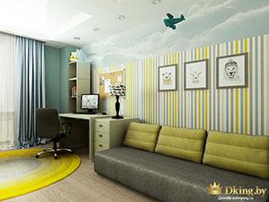 планировка детской комнаты для мальчика-подростка в загородном доме