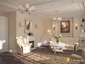 планировка большого дома: классическая гостиная - правила зонирования