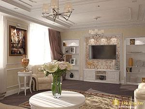 правила зонирования классической гостиной в большом частном доме