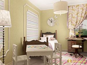детская комната на втором этаже частного дома