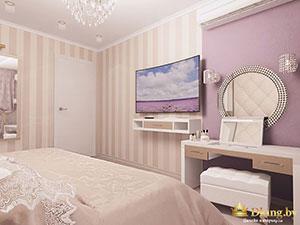 классическая спальня в современной двушке