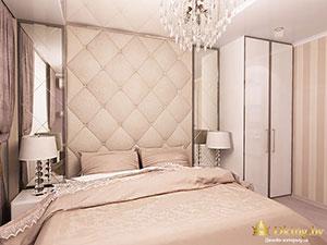 спальня в стандартной двшуке в стиле современнаяя классика