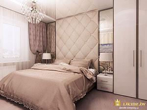 интерьер классической спальни в обычной 2 комнатной квартире