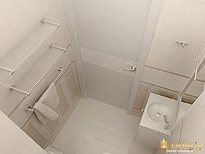 санузел в светлых тонах в двухкомнатной квартире в минске
