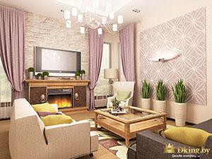зонирование большго частного дома: гостиная