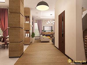 зонирование первого этажа большого частного дома