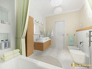 светлая ванная в частном доме