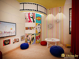 правила дизайна яркой детской в большом доме