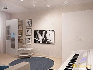 светлый интерьер двухкомнатной квартиры