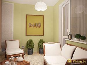 комната отдыха на втором этаже коттеджа