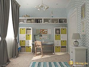 детская комната в доме с мансардой: мебель из икеа