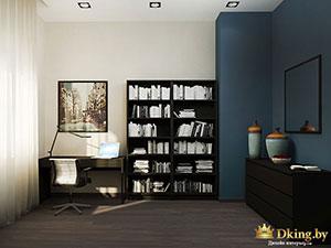 зприглушенный синий в интерьере обычной квартиры