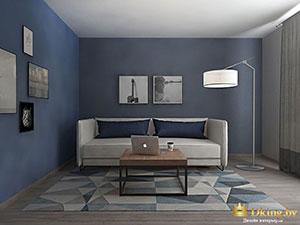 благородный серый и синий в дизайне трешки