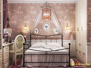 сказочная спальня в небольшой квартире