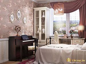 маленькая сказочная спальня в небольшой двушке