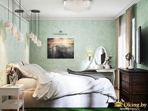 интерьер спальни в небольшой квартире