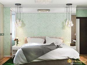 современный дизайн спальни в сатрой двушхкомнатной квартире