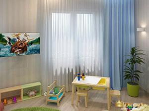 интерьер детской комнаты с икеевской мебелью