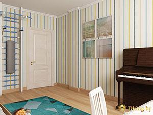 интерьер большой комнаты для ребенка в трехкомнатной квартире