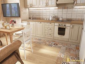 зонирование трехкомнатной квартиры : кухня