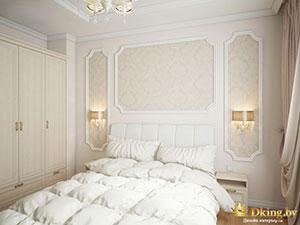 интерьер спальни в трехкомнатной квартире 100 кв.м.