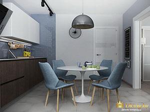 маленькая кухня в небольшом одноэтажном коттедже