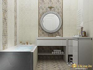 компактная ванная в одноэтажном коттедже