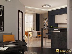 современная гостиная в просторном загородном коттедже