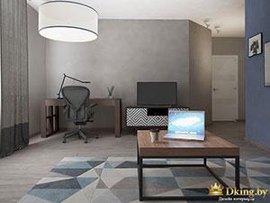 темные цвета в интерьере трехкомнатной квартиры