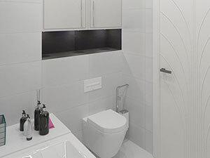 черно-белая ванная в однушке