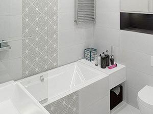 вариант дизайна санузла в маленькой 1-комнатной квартире