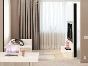 гостиная зона в маленькой квартире
