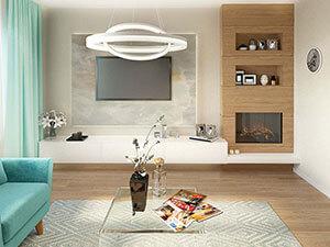трешка со свободной планировкой - дизайн гостиной