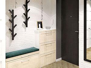 мебель икея в дизайне прихожей 3-комнатной квартиры