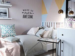 мебель из икея в интерьере детской : кровать хемнэс