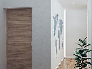 белый плинтус и деревянный пол в интерьере