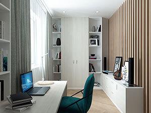 интерьер рабочего кабинета 10 кв.м. в маленькой квартире