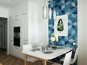 белая кухня и кухонный гарнитур икея в интерьере двушки