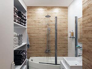 оригинльное дизайнерское решение для ванной комнаты