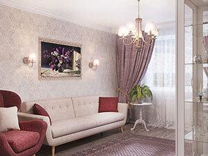 большая гостиная в классическом стиле