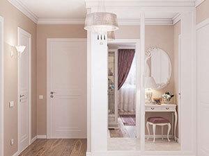 дизайн прихожей в большой квартире