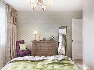 спальня с элементами арт-деко